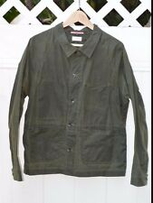 Apolis French Waxed Jacket In Olive Size Medium Made in USA