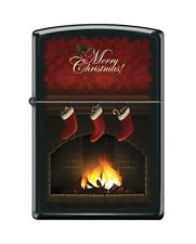 Zippo 218 merry christmas stockings by fireplace Lighter