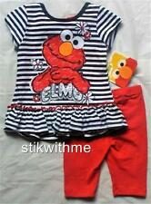 NWT Sesame Street  Infant Girls' SS Tunic & Leggings SET - Elmo (Size 12 mos)