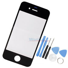 New Front Screen Glass Lens for iPhone 4 4S Black + Tools