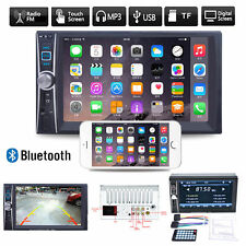 """6.6""""HD Double 2DIN Bluetooth Touch Car Radio Stereo MP5 MP3 Player FM/USB/TF/AUX"""
