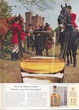 "1962 Chivas Regal Scotch Whisky Scottish ""The Stirrup Cup"" PRINT AD"