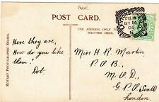 Leytonstone Squared Circle postmark 1906 on old pc Essex Mrs Seymour Hicks