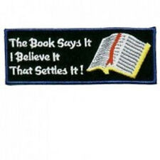 THE BOOK SAYS IT BIKER PATCH
