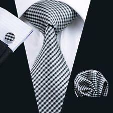 C-1040 Hot New Mens Silk Ties Wedding Party Neckties Tie+Hanky+Cufflinks Sets