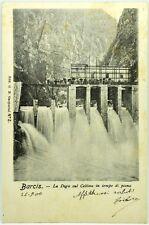 Cartolina Formato Piccolo-Barcis-La Diga Sul Cellina In Tempo Di Piena Viaggiata