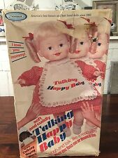 Horsman Talking Happy Baby Doll Vintage 1974 In Original Box And Works!