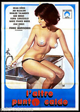 L'ALTRO PUNTO CALDO MANIFESTO CINEMA SEXY EROTICO GERMANIA 1974 MOVIE POSTER 2F