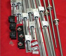 SBR20 linear rail+3 ballscrew RM1605-350/650/1050mm+3set BK/BF12 end bearing CNC