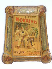 MOKAINE Liquor - alter Aschenbecher, Zahlteller (Ash Tray / Tip Tray), Blech
