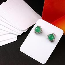 200 White Plastic Earrings Showcase Display Cards 4x3cm HOT