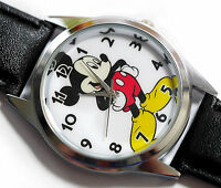 WHOLESALE NEW DISNEY MICKEY MOUSE WATCH Stainless Steel LEATHER FILM WATCH MICKY