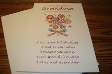 MOTHERS DAY CARD * To a Special Grandma on Mothers Day / NEW   c3