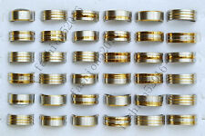 Fashion Wholesale Lots 6pcs Gold Silver Mixed Men's Stainless Steel Rings