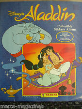 RARE PANINI WALT DISNEY ALADDIN STICKER ALBUM BOOK EMPTY BUT WITH ALL STICKERS