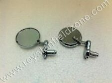 CHROME Bar End Motorbike Mirrors Suitable ForClassic Royal Enfield Motorcycles1