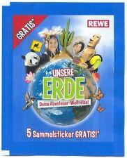 REWE STICKER UNSERE ERDE 10 SAMMELBILDER AUSSUCHEN