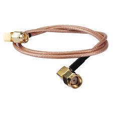 90 Deg SMA plug right angle to RP SMA plug male RA RF Pigtail RG316 cable 15cm