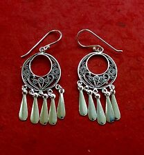 Sterling Silver 925 Drop Dangle Earrings Handcrafted India 003