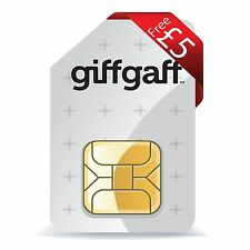 GiffGaff 4G Pay As You Go SIM CARD NANOSIM MICRO STANDARD SIM 5£ OMAGGIO GRATIS