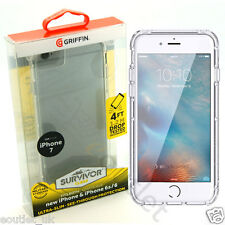 GENUINE GRIFFIN SURVIVOR ULTRA SLIM CLEAR CASE COVER FOR APPLE IPHONE 7 6S NEW