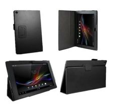 UK New Leather Smart Case Cover For 10.1 inch Sony Xperia Z2 Tablet