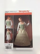 2621 Simplicity Costume Sewing Pattern Tudor Undergarments Corset Size 8-16