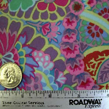 Kaffe Fassett PAISLEY JUNGLE LILAC Gp60 Floral Quilt Fabric by Quarter Yard FQ