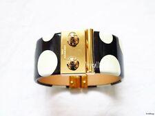 RARE LOUIS VUITTON YAYOI KUSAMA DOT BLACK BANGLE BRACELET- BRAND NEW BLACK GOLD