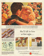 1950 vintage Ad, Watchmakers of Switzerland, great art by Edwin Georgi -122713