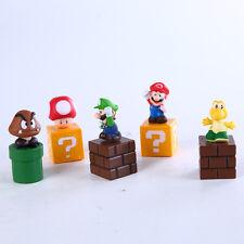 5 piezas Nintendo Super Mario Bros Figuras De Acción Juego Nuevo