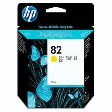 GENUINE AUTHENTIC HP HEWLETT PACKARD HP 82 YELLOW INK CARTRIDGE C4913A 69ML