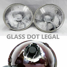 """7"""" Round H6014/H6015/H6024 LED Halo DOT Clear Diamond Glass Headlights 2 Pack"""