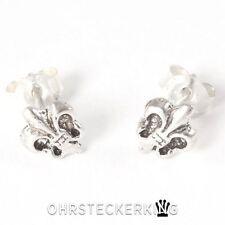Ohrstecker Lilie, Fleur de Lis, Echt Silber (925-Silber) ☆Neu☆
