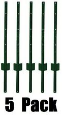 5 pack Midwest Air Tech 901153A 3 ft Light Duty U Style 14 ga Steel Fence Posts