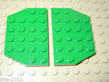 Lego Green Wedge Plate 4x6 Cut Corners 2 pieces NEW!!!