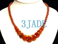 "16"" Carnelian / Red Agate Beads Necklace"