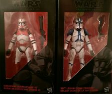 "Star Wars The Black Series Clone Troopers of Order 66 6"" Action Figure Set of 2"
