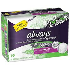 Always Discreet Maximum Absorbency Incontinence Underwear, Small 19 ea (4 pack)