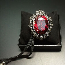 Indian Red Crystal Bolo Ties Western Cowboy Bola Tie Rodeo Dance Bootlace Tie
