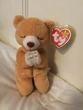 RARE RETIRED TY BEANIE BABY HOPE THE PRAYING BEAR 1998 ERRORS ON TAG TAG PROTECT