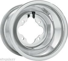 "DWT Polished A5 Rolled Lip ATV Rear Wheel 10"" 10x10 5+5 4/110 Honda TRX250R 450R"