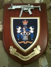 SO19 Firearms Unit Police Service with Pewter MP5 Military Wall Plaque