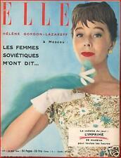 ▬►Elle 441 (1954) ELLE à Moscou_Le Parfum_Mode Fashion
