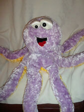 "Dan Dee Whimsical Octopus Purple Yellow 32"" Plush Soft Toy Stuffed Animal"