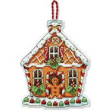 Counted Cross Stitch Kit GINGERBREAD HOUSE ORNAMENT Susan Winget