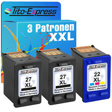 2x HP 27 & 22 XL Cartuccia per Officejet 5610 hp22
