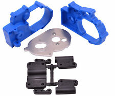 RPM Slash Rustler Stampede Hybrid Gearbox Housing & Rear Mounts (Blue) RPM73615