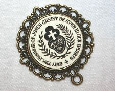Custom Bronze Rosary Center Part/Color/Rosary Making/Passionist Insignia # 12