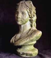 Princess Friederike 18c ANTIQUE GERMAN STATUE NEO CLASSICAL STONE BUST SCULPTURE
